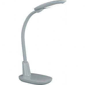 LED Tafellamp - Tafelverlichting - Trion Grino - 9W - Dimbaar - USB Oplaadbaar - Mat Grijs - Kunststof