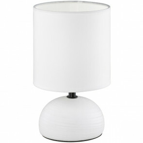 LED Tafellamp - Tafelverlichting - Trion Lucifer - E14 Fitting - Rond - Mat Wit - Keramiek