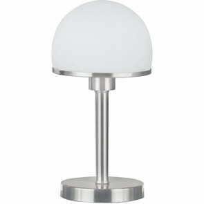 LED Tafellamp - Trion Josa - E27 Fitting - 1-lichts - Dimbaar - Rond - Mat Nikkel - Aluminium