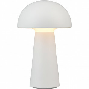 LED Tafellamp - Trion Lenio - 2W - Warm Wit 3000K - USB Oplaadbaar - Rond - Mat Wit - Kunststof