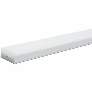 LED TL Armatuur met T5 Buis - Aigi Shado - 60cm - 12W - Koppelbaar - Natuurlijk Wit 4000K - Mat Wit - Kunststof