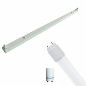 LED TL Armatuur met T8 Buis Incl. Starter - Aigi Dybolo - 120cm Enkel - 16W - Helder/Koud Wit 6400K - Beschermingsgraad IP20