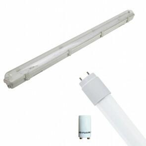 LED TL Armatuur met T8 Buis Incl. Starter - Aigi Hari - 120cm Enkel - 16W - Helder/Koud Wit 6400K - Waterdicht IP65