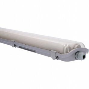 LED TL Armatuur met T8 Buizen - Sanola Yvor - 120cm Dubbel - 36W - Natuurlijk Wit 4000K - Mat Grijs - Kunststof 7
