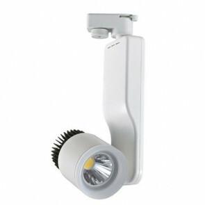LED Track Spot / Railverlichting Richtbaar Rond Mat Wit 23W 4200K Natuurlijk Wit Aluminium / Glas IP20