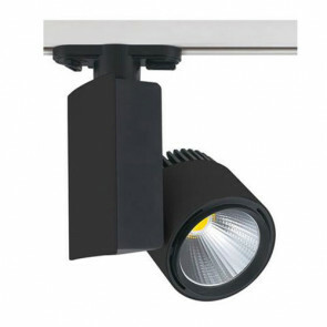 LED Track Spot / Railverlichting Richtbaar Rond/Rechthoek Mat Zwart 40W 4200K Natuurlijk Wit Aluminium / Glas IP20