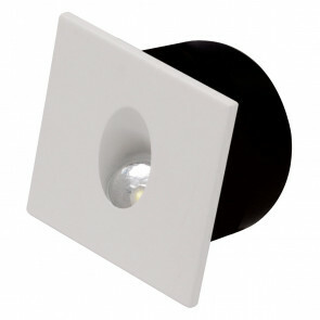 LED Trapspot - Inbouw Vierkant 3W - Natuurlijk Wit 4000K - Mat Wit Aluminium - 80mm