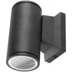 LED Tuinverlichting - Buitenlamp - Aigi Wally Down - GU10 Fitting - 1-lichts - Mat Zwart - Rond - Aluminium