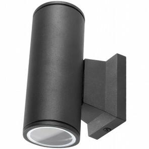 LED Tuinverlichting - Buitenlamp - Aigi Wally Up and Down - GU10 Fitting - 2-lichts - Mat Zwart - Rond - Aluminium