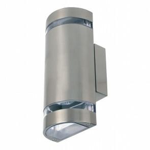 LED Tuinverlichting - Buitenlamp - Gardy 4 - Wand - RVS Mat Chroom - GU10 - Ovaal