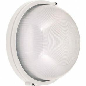 LED Tuinverlichting - Buitenlamp - Lagoon - Wand - Aluminium Mat Wit - E27 - Rond