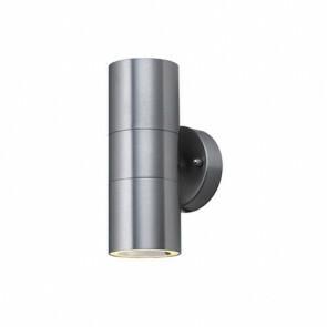 LED Tuinverlichting - Buitenlamp - Magnolia 2 - Wand - RVS Mat Chroom - GU10 - Rond