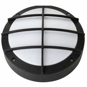 LED Tuinverlichting - Buitenlamp - Nara - Wand - Aluminium Mat Zwart - 12W Natuurlijk Wit 4000K - Rond