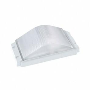 LED Tuinverlichting - Buitenlamp - Ovalas - Wand - Aluminium Mat Wit - E27 - Rechthoek