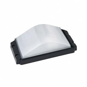 LED Tuinverlichting - Buitenlamp - Ovalas - Wand - Aluminium Mat Zwart - E27 - Rechthoek