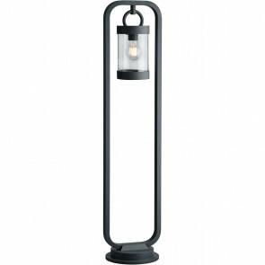 LED Tuinverlichting - Buitenlamp - Trion Semby - Staand - Lichtsensor - E27 Fitting - Mat Zwart - Aluminium