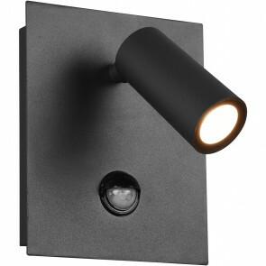 LED Tuinverlichting met Bewegingssensor - Wandlamp Buitenlamp - Trion Sonei - 3W - Warm Wit 3000K - 1-lichts - Vierkant - Mat Antraciet - Aluminium