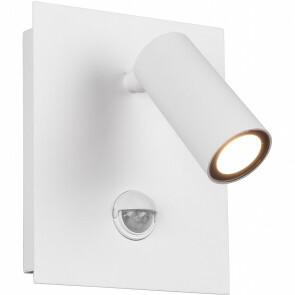 LED Tuinverlichting met Bewegingssensor - Wandlamp Buitenlamp - Trion Sonei - 3W - Warm Wit 3000K - 1-lichts - Vierkant - Mat Wit - Aluminium