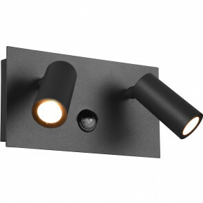 LED Tuinverlichting met Bewegingssensor - Wandlamp Buitenlamp - Trion Sonei - 6W - Warm Wit 3000K - 2-lichts - Rechthoek - Mat Antraciet - Aluminium