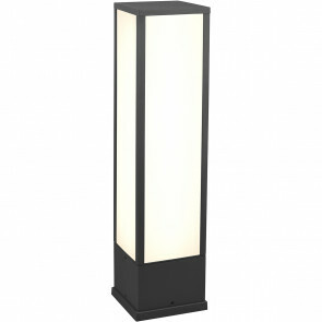LED Tuinverlichting - Staande Buitenlamp - Trion Ficco - 15W - Warm Wit 3000K - Rechthoek - Mat Antraciet - Aluminium