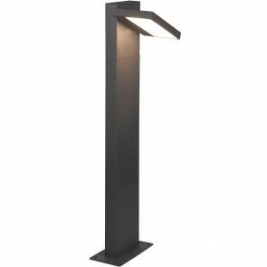 LED Tuinverlichting - Staande Buitenlamp - Trion Ihson - 8W - Warm Wit 3000K - Draaibaar - Rechthoek - Mat Antraciet - Aluminium