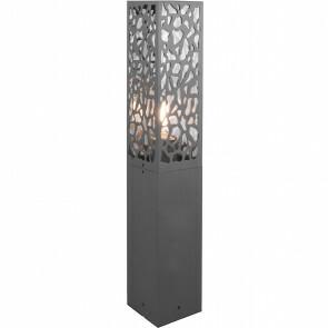 LED Tuinverlichting - Staande Buitenlamp - Trion Kaca - E27 Fitting - Rechthoek - Mat Antraciet - RVS