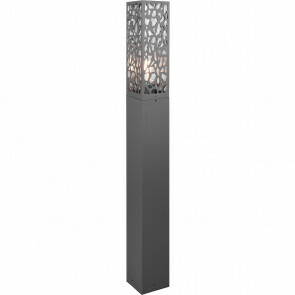 LED Tuinverlichting - Staande Buitenlamp - Trion Kaca XL - E27 Fitting - Rechthoek - Mat Antraciet - RVS