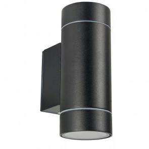 LED Tuinverlichting - Tuinlamp - Facto Noniry - Wand - 2-lichts - GU10 Fitting - Mat Zwart - Aluminium