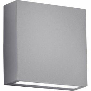 LED Tuinverlichting - Tuinlamp - Thano - Wand - 6W - Mat Titaan - Aluminium