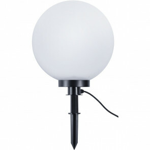 LED Tuinverlichting - Vloerlamp - Trion Balino - Staand - E27 Fitting - Mat Zwart - Kunststof - Ø400