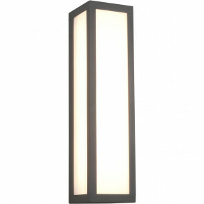 LED Tuinverlichting - Wandlamp Buitenlamp - Trion Ficco - 10W - Warm Wit 3000K - Rechthoek - Mat Antraciet - Aluminium