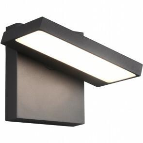 LED Tuinverlichting - Wandlamp Buitenlamp - Trion Ihson - 8W - Warm Wit 3000K - Draaibaar - Vierkant - Mat Antraciet - Aluminium