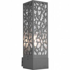 LED Tuinverlichting - Wandlamp Buitenlamp - Trion Kaca - E27 Fitting - Rechthoek - Mat Antraciet - RVS