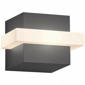 LED Tuinverlichting - Wandlamp Buitenlamp - Trion Mitchi - 7W - Warm Wit 3000K - Vierkant - Mat Antraciet - Aluminium
