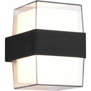 LED Tuinverlichting - Wandlamp Buitenlamp - Trion Mollo Up and Down - 4W - Warm Wit 3000K - 1-lichts - Rond - Mat Antraciet - Aluminium