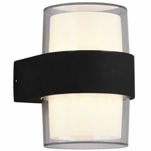 LED Tuinverlichting - Wandlamp Buitenlamp - Trion Mollo Up and Down - 8W - Warm Wit 3000K - 2-lichts - Rond - Mat Antraciet - Aluminium