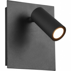 LED Tuinverlichting - Wandlamp Buitenlamp - Trion Sonei - 3W - Warm Wit 3000K - Vierkant - Mat Antraciet - Aluminium