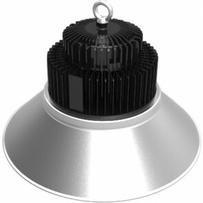 LED UFO High Bay 100W - Aigi Mania - Magazijnverlichting - Waterdicht IP65 - Helder/Koud Wit 6000K - Mat Zwart - Aluminium