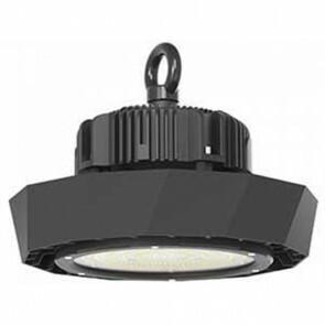 LED UFO High Bay 100W - Viron Manisa - Magazijnverlichting - Waterdicht IP65 - Helder/Koud Wit 6400K - Mat Zwart - Aluminium