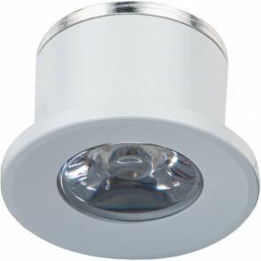 LED Veranda Spot Verlichting - 1W - Natuurlijk Wit 4000K - Inbouw - Dimbaar - Rond - Mat Wit - Aluminium - Ø31mm