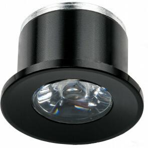 LED Veranda Spot Verlichting - 1W - Natuurlijk Wit 4000K - Inbouw - Dimbaar - Rond - Mat Zwart - Aluminium - Ø31mm