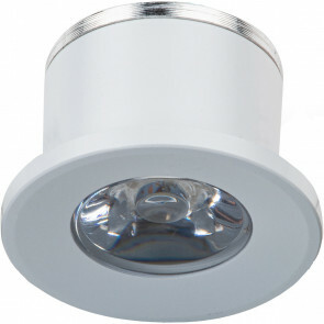 LED Veranda Spot Verlichting - 1W - Warm Wit 3000K - Inbouw - Dimbaar - Rond - Mat Wit - Aluminium - Ø31mm