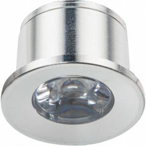 LED Veranda Spot Verlichting - 1W - Warm Wit 3000K - Inbouw - Dimbaar - Rond - Mat Zilver - Aluminium - Ø31mm
