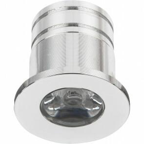 LED Veranda Spot Verlichting - 3W - Warm Wit 3000K - Inbouw - Rond - Mat Zilver - Aluminium - Ø31mm