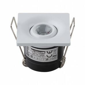 LED Veranda Spot Verlichting - Inbouw Vierkant 1W - Natuurlijk Wit 4200K - Mat Wit Aluminium - 40mm