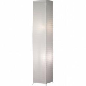 LED Vloerlamp - Trion Bamino - E27 Fitting - 2-lichts - Vierkant - Mat Wit - Aluminium/Papier