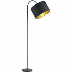 LED Vloerlamp - Trion Hostons - E27 Fitting - Rond - Flexibel - Mat Zwart - Aluminium