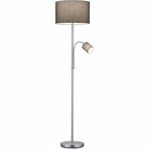 LED Vloerlamp - Trion Hotia - E27 Fitting - Rond - Flexibel - Mat Grijs - Aluminium