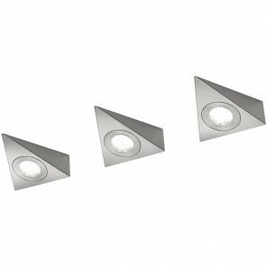 LED Wandlamp - Trion Ecoli - 9W - Warm Wit 3000K - Driehoek - Mat Nikkel - Aluminium