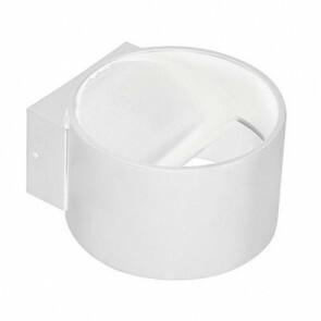 LED Wandlamp - Wandverlichting - 8W - Natuurlijk Wit 4200K - Mat Wit Aluminium - Rond